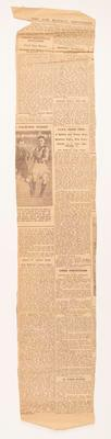 Newspaper clipping, obituary of Sonny Elms - 17 Dec 1928