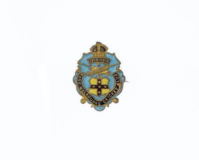 Membership badge, East Melbourne Cricket Club - season 1915/16