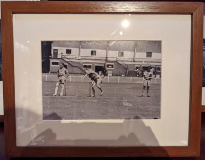 Reproduction photograph, RAAF v RAF cricket match at MCG - 7 Jan 1944; Photography; M16666