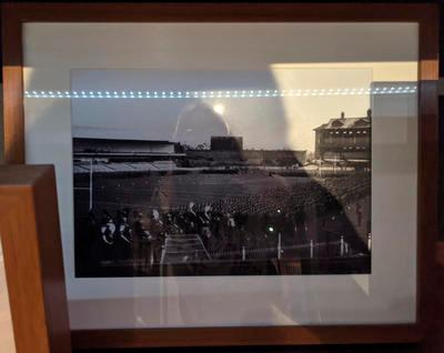 Reproduction photograph, US Marines Corps marching parade on MCG - 1943
