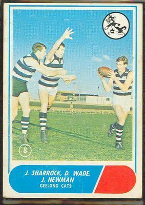 1969 Scanlens (Scanlens) Australian Football J. Sharrock, D. Wade, J. Newman Trade Card