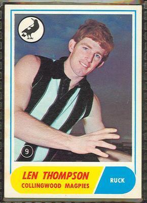 1969 Scanlens (Scanlens) Australian Football Len Thompson Trade Card