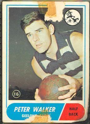 1969 Scanlens (Scanlens) Australian Football Peter Walker Trade Card