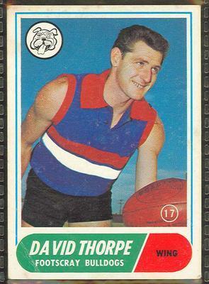 1969 Scanlens (Scanlens) Australian Football David Thorpe Trade Card