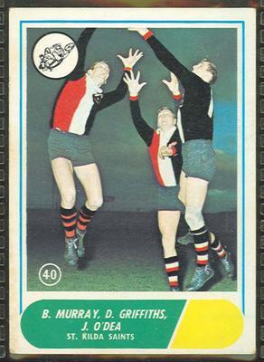 1969 Scanlens (Scanlens) Australian Football B. Murray, D. Griffiths, J. O'Dea Trade Card