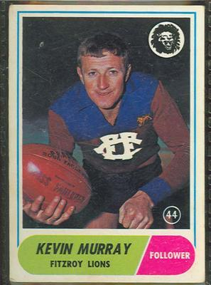 1969 Scanlens (Scanlens) Australian Football Kevin Murray Trade Card