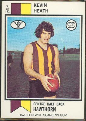1974 Scanlens (Scanlens) Australian Football Kevin Heath Trade Card