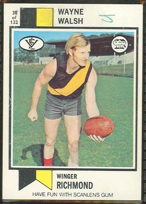 1974 Scanlens (Scanlens) Australian Football Wayne Walsh Trade Card; Documents and books; 1994.3042.334