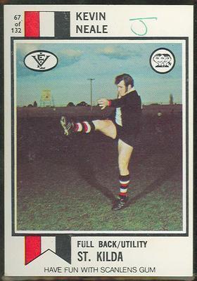1974 Scanlens (Scanlens) Australian Football Kevin Neale Trade Card