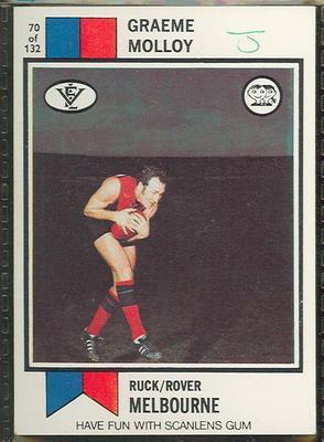 1974 Scanlens (Scanlens) Australian Football Graeme Molloy Trade Card