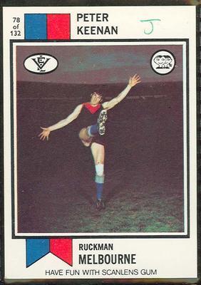 1974 Scanlens (Scanlens) Australian Football Peter Keenan Trade Card