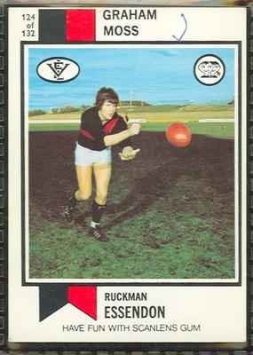 1974 Scanlens (Scanlens) Australian Football Graham Moss Trade Card; Documents and books; 1994.3042.409