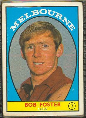 1968 Scanlens (Scanlens) Australian Football Bob Foster Trade Card