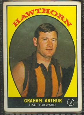 1968 Scanlens (Scanlens) Australian Football Graham Arthur Trade Card