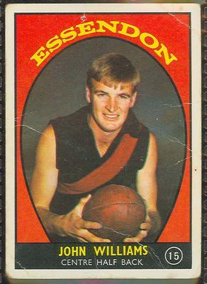 1968 Scanlens (Scanlens) Australian Football John Williams Trade Card