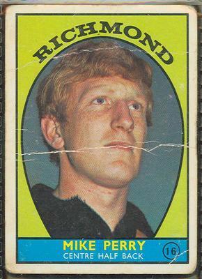 1968 Scanlens (Scanlens) Australian Football Mike Perry Trade Card