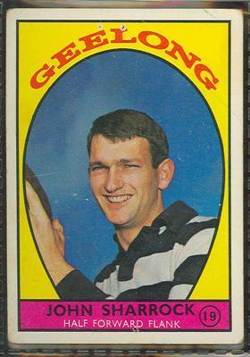 1968 Scanlens (Scanlens) Australian Football John Sharrock Trade Card