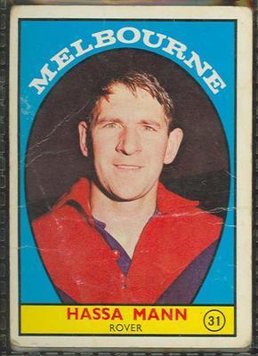 1968 Scanlens (Scanlens) Australian Football Hassa Mann Trade Card