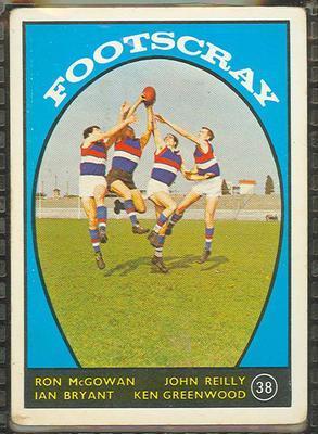 1968 Scanlens (Scanlens) Australian Football Ron McGowan, John Reilly, Ian Bryant, Ken Greenwood Trade Card