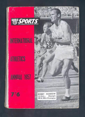 "Magazine, ""International Athletics Annual 1957""; Documents and books; 1992.2630.89"