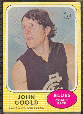 1970 Scanlens (Scanlens) Australian Football John Goold Trade Card