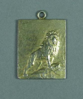 Gold medal related to swimming competition in Antwerp on 16 August 1908, won by Frank Beaurepaire