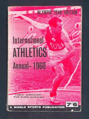 "Magazine, ""International Athletics Annual 1960"""