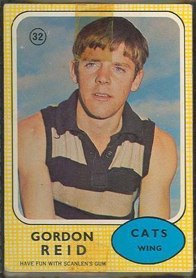 1970 Scanlens (Scanlens) Australian Football Gordon Reid Trade Card