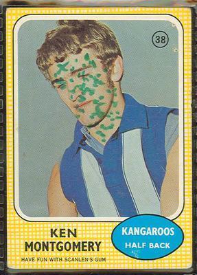 1970 Scanlens (Scanlens) Australian Football Ken Montgomery Trade Card; Documents and books; 1994.3042.499