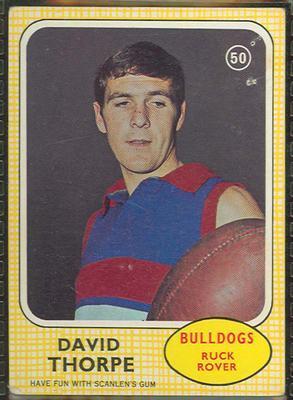 1970 Scanlens (Scanlens) Australian Football David Thorpe Trade Card; Documents and books; 1994.3042.516