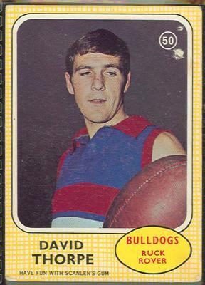 1970 Scanlens (Scanlens) Australian Football David Thorpe Trade Card; Documents and books; 1994.3042.517