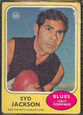 1970 Scanlens (Scanlens) Australian Football Syd Jackson Trade Card