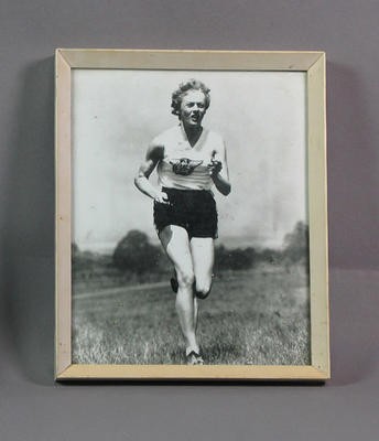 Photograph of Betty Cuthbert running, undated; Photography; Framed; 1992.2630.96.2
