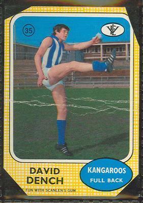 1972 Scanlens (Scanlens) Australian Football Davis Dench Trade Card; Documents and books; 1994.3042.545