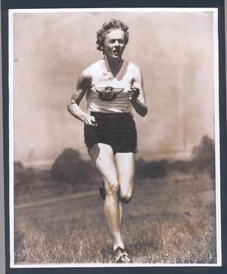 Photograph of Betty Cuthbert running, undated