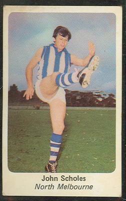 1971 Sunicrust (Sunicrust) Australian Football John Scholes Trade Card