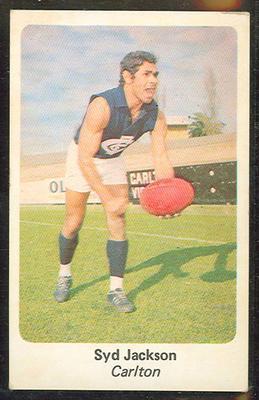 1971 Sunicrust (Sunicrust) Australian Football Syd Jackson Trade Card