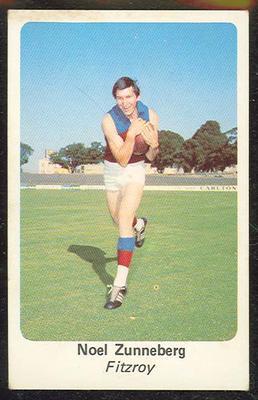 1971 Sunicrust (Sunicrust) Australian Football Noel Zunneberg Trade Card