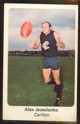 1971 Sunicrust (Sunicrust) Australian Football Alex Jesaulenko Trade Card