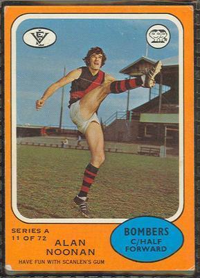 1973 Scanlens (Scanlens) Australian Football Alan Noonan Trade Card