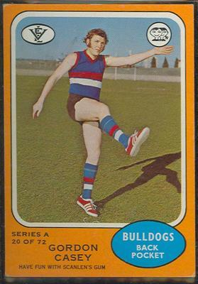 1973 Scanlens (Scanlens) Australian Football Gordon Casey Trade Card