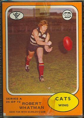 1973 Scanlens (Scanlens) Australian Football Robert Whatman Trade Card
