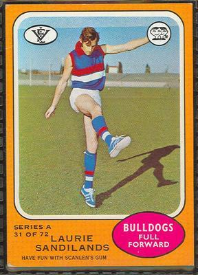 1973 Scanlens (Scanlens) Australian Football Laurie Sandilands Trade Card; Documents and books; 1994.3042.623