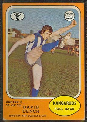 1973 Scanlens (Scanlens) Australian Football David Dench Trade Card; Documents and books; 1994.3042.624