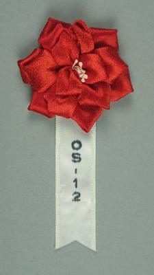 Fabric rosette, used by Percy Cerutty