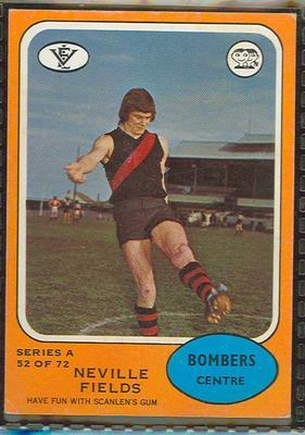 1973 Scanlens (Scanlens) Australian Football Neville Fields Trade Card