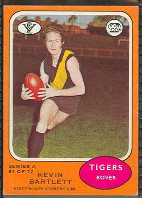 1973 Scanlens (Scanlens) Australian Football Kevin Bartlett Trade Card