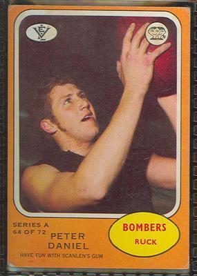 1973 Scanlens (Scanlens) Australian Football Peter Daniel Trade Card