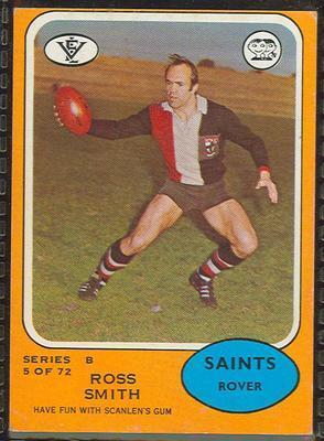 1973 Scanlens (Scanlens) Australian Football Ross Smith Trade Card