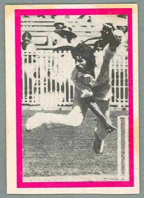 1974 Sunicrust Cricket - Australia v England, Alan Hurst trade card